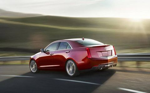 The 2013 Cadillac ATS 2.0T's output tops out at 272 hp @5,500 rpm, 260 lb-ft @1,700-5,500 rpm.
