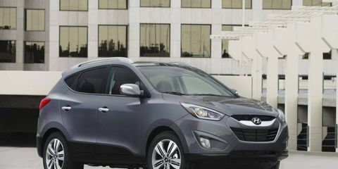 The 2014 Hyundai Tucson gets either a 2.0-liter or 2.4-liter engine.