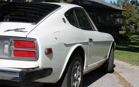 Not seen  here: rippling body panels that would suggest shoddy repair work or hidden rust. This 280Z boasts straight, clean sheet metal.
