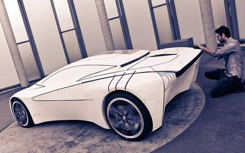 The Peugeot Onyx evolved in layers in the studio.