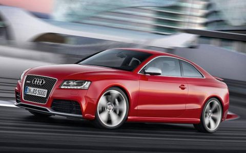 The Audi RS5 gets Audi's seven-speed dual-clutch transmission