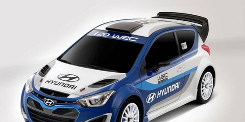 The Hyundai i20 could make its World Rally Championship debut in 2013.