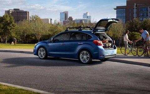 The 2012 Subaru Impreza five-door hatchback.