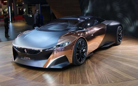 It isn't hard to see why the Peugeot Onyx was selected as best concept at the 2012 Paris motor show. Its dramatic looks and use of unconventional materials -- from copper to felt -- made it a standout.