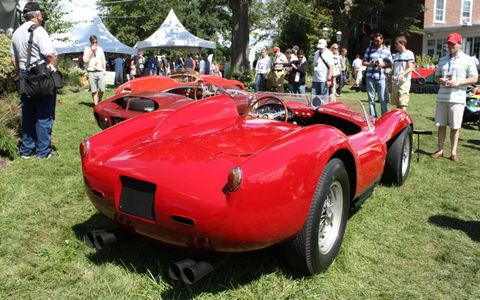 1957 TR 250 owned by the Simeone Foundation earned the Chairman's Award for Sporting Elegance.