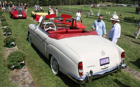 Amy McKenna's 1958 Mercedes-Benz 220S Cabriolet scored Best Postwar European Classic.