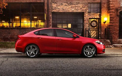 The Dodge Dart GT features a 2.4-liter I4, FWD, Six-speed automatic.