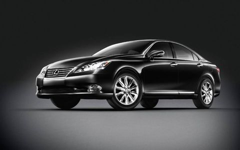 The 2012 Lexus ES350 Touring Edition in obsidian black