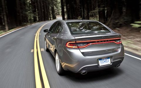 EPA City/Highway/Combined fuel economy for the Dart GT is 21/30/24 mpg, while the crew at AutoWeek observed a combined 22.9 mpg.