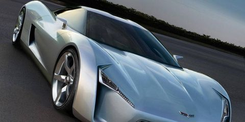 This illustration shows what we think the V6 mid-engined C8 Chevrolet Corvette may look like.