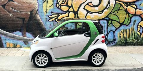 In tight, urban environments the 2013 Smart Fortwo Electric Drive's diminutive size can be an advantage.