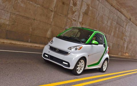 The 2013 Smart Fortwo Electric Drive is no rocket, but it's surprisingly fun to drive.