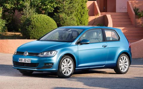 A front view of the 2013 Volkswagen Golf.