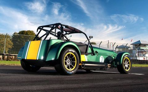 The Caterham Superlight R600 on static display at the track.