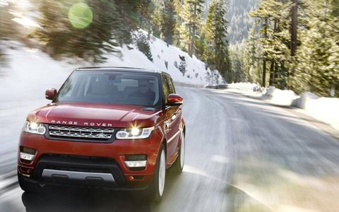 The 2014 Range Rover Sport features 340 hp while the optional 5.0-liter supercharged V8 makes 510 hp.