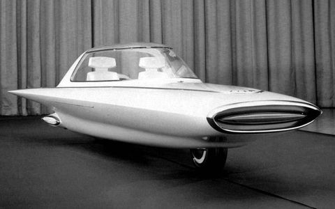 The 1961 Ford Gyron predicted a future that never actually arrive. It was supposed to use a gyroscope-stabilized two-wheel setup.