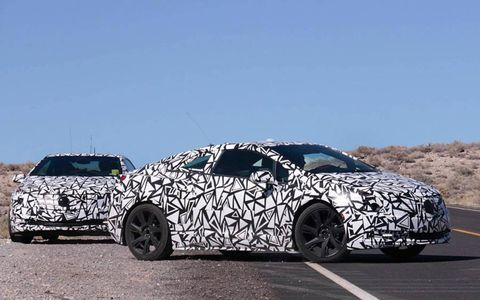 A pair of Cadillac ELR's caught testing in the desert.