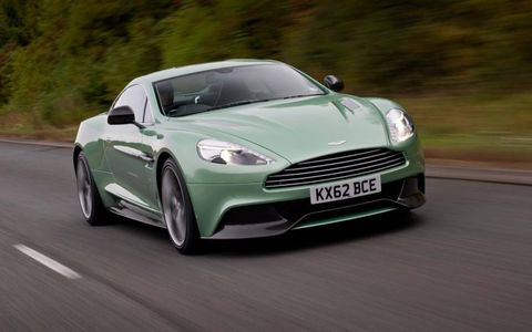 The 2014 Aston Martin Vaquish out on the street