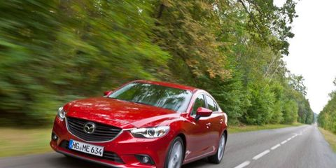 We took both gasoline and diesel-powered versions of the upcoming 2014 Mazda 6 sedan for a spin following the 2012 Paris motor show.