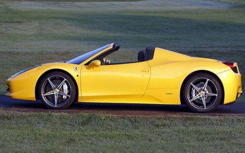 The 2012 Ferrari 458 Italia Spider, topless