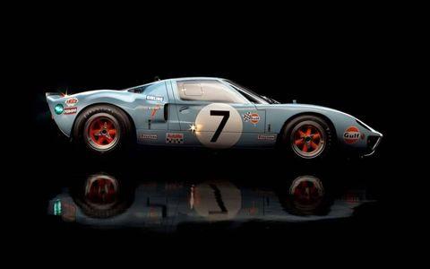 GT40 in profile.