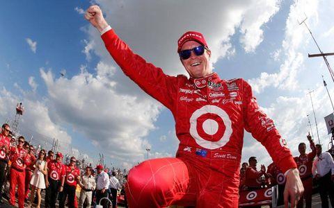 Scott Dixon won Saturday's IndyCar race at Houston under caution.