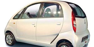 The Tata Nano has 12-inch wheels and a 35-hp engine.