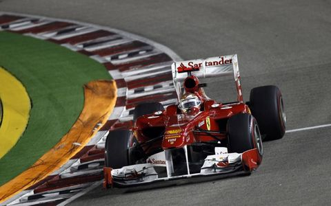 Fernando Alonso finished in fourth position in his Ferrari 150th Italia. Photo by: Andrew Ferraro/LAT Photographic