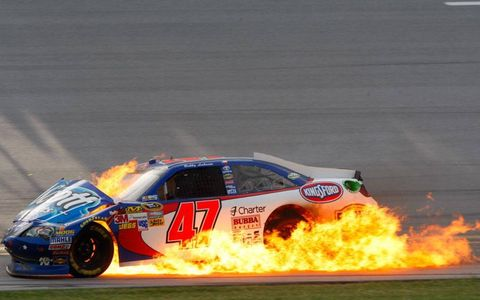 Bobby Labonte was one of the drivers caught up in the craziness of Talladega.