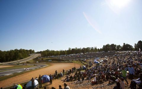 Prime Seating // Crowds enjoy the action at Petit Le Mans at Road Atlanta in Georgia on Oct. 1. Photo by: Drew Gibson/LAT Photographic
