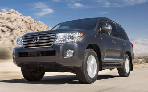 The drivetrain for the Toyota Land Cruiser features a 5.7-liter V8, 4WD, six-speed automatic