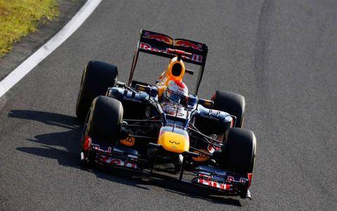 Sebastian Vettel won from the pole in Japan on Sunday.