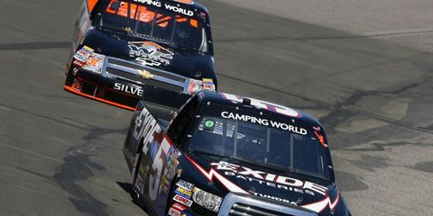 This weekend's Camping World Truck Series race has been rescheduled to Saturday afternoon due to a power outage.