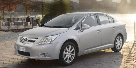 The platform used for the Toyota Avensis, sold in Europe, is engineered for all-wheel drive. We think it might make a good start for a rear-drive Scion car.