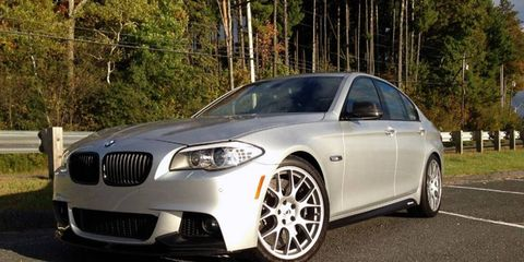 The S2 package for the BMW 550xi costs about $16,000.