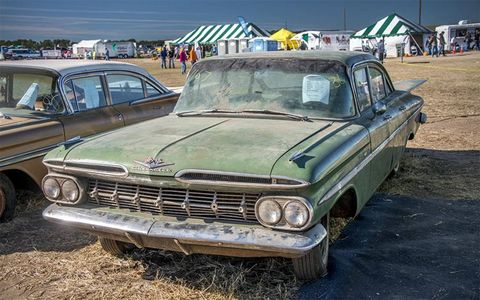 This 1959 Chevrolet Bel Air looked like it didn't need a whole lot of work.