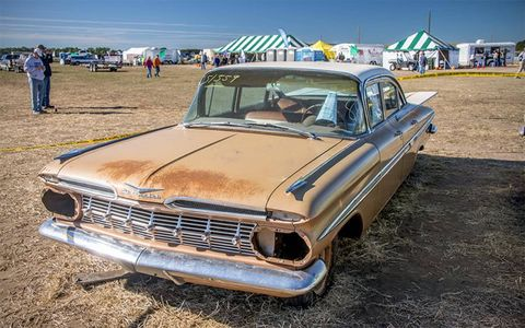 This was another 1959 Chevrolet Bel Air that could be brought back relatively easily.