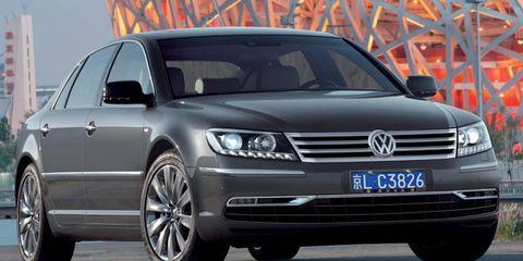 Volkswagen showed the redesigned Phaeton sedan in China in June.