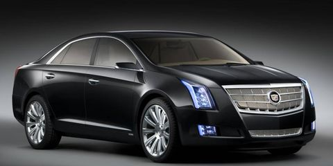 Cadillac will put the XTS sedan into production for the 2012 model year but is also working on a larger, rear-drive car to be its flagship.
