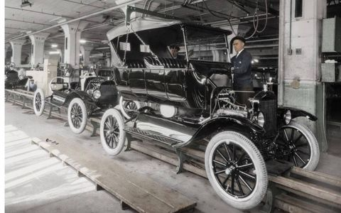 By the year 1923, Model T production was booming. The time it took to assemble a Model T went from about 12 hours to just 90 minutes.