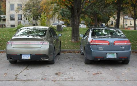 The 2013 Lincoln MKZ is longer and wider than its predecessor. The car looks new from all angles.