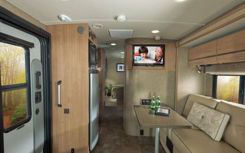 The Winnebago Via 25Q features a slightly different layout than our 25T, plus dual slideout areas.