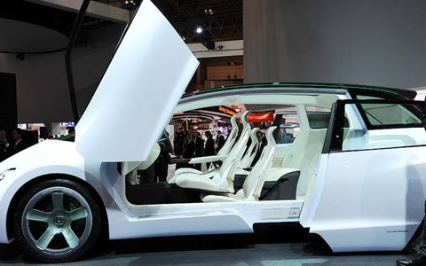 The scissor winged door shown at the Tokyo auto show.
