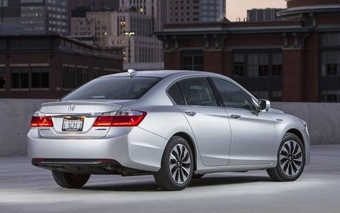 50 mpg city driving is a lofty target, but it's the Accord Hybrid's marketing ace.