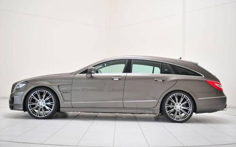 The CLS Shooting Brake differs from the E-Class wagon with its sloping rear end.