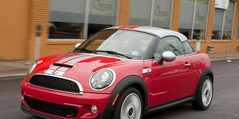 """The 2012 Mini Cooper S Coupe was """"a riot"""" to drive, but the exterior styling and interior layout earned mixed reviews."""