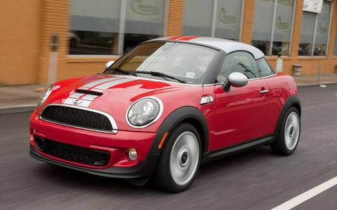 "The 2012 Mini Cooper S Coupe was ""a riot"" to drive, but the exterior styling and interior layout earned mixed reviews."