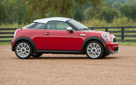 All agreed that the 2012 Mini Cooper S Coupe is at least as fun to drive as its more conventional siblings, like the Mini Cooper S.