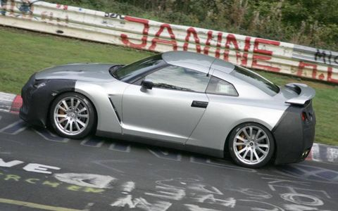 Nissan's next-generation Skyline GT-R is already running hot laps on the Nurburgring, even though the highly anticipated high-performance sports car isn't due until fall 2007 as an '08 model. The car spied in Germany closely mirrors the design and styling of the GT-R Prototype revealed at the 2005 Tokyo show.