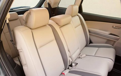 The 2012 Mazda CX-9 Grand Touring middle row seating.